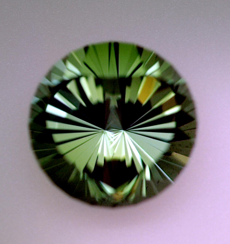 Green Tourmaline Specialty Faceted Gemstone