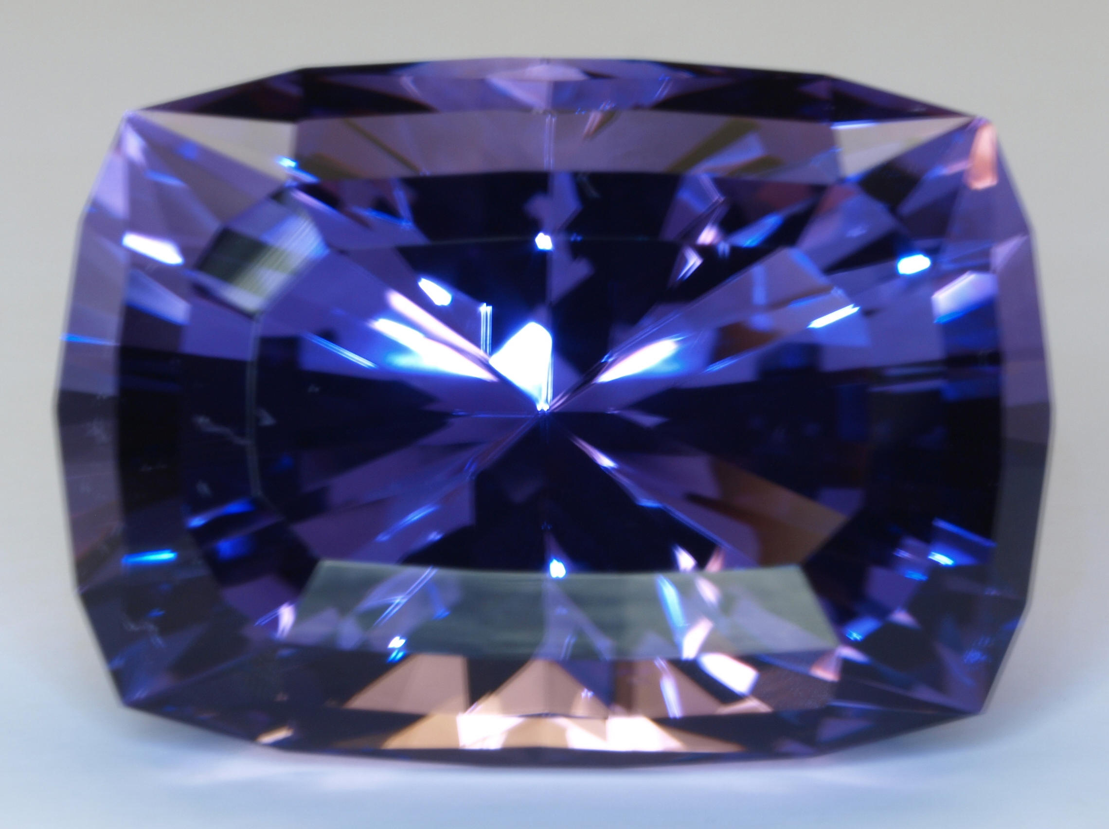 Tanzanite Nice Deeper Blue Custom Faceted Cushion Barion Brilliant