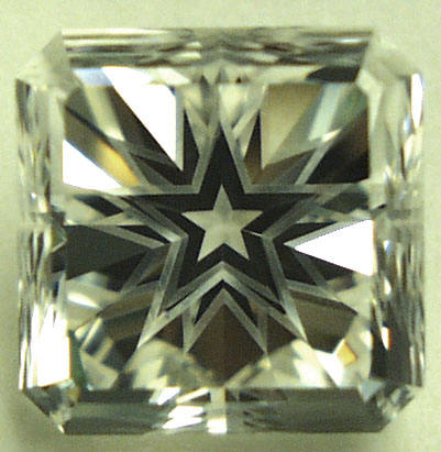 Rock Crystal Quartz Square Cut Corner Star Halo Big Stone for Poker Card Protector